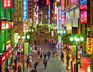 Shinjuku - et af de populære steder for turister at bo i Tokyo